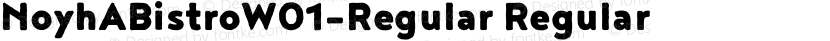NoyhABistroW01-Regular Regular Preview Image