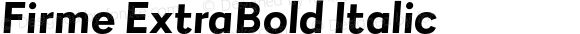 Firme ExtraBold Italic