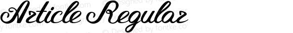 Article Regular