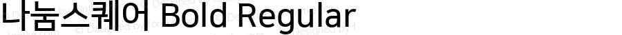 나눔스퀘어 Bold Regular Version 1.000;PS 1;hotconv 1.0.86;makeotf.lib2.5.63406