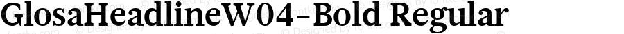 GlosaHeadlineW04-Bold Regular Version 1.00