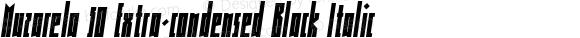 Muzarela 50 Extra-condensed Black Italic
