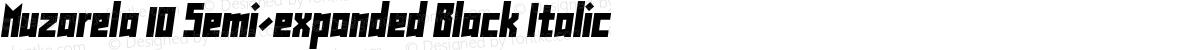 Muzarela 10 Semi-expanded Black Italic