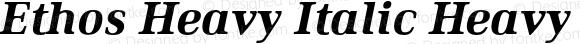 Ethos Heavy Italic Heavy Italic
