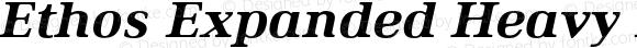 Ethos Expanded Heavy Italic Expanded Heavy Italic