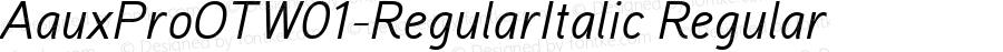 AauxProOTW01-RegularItalic Regular Version 1.10
