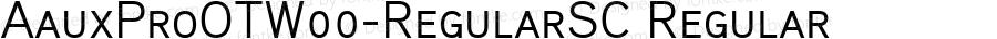 AauxProOTW00-RegularSC Regular Version 2.10