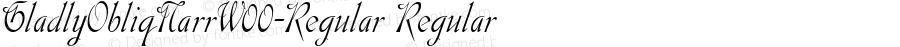 GladlyObliqNarrW00-Regular Regular Version 1.21