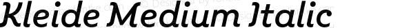 Kleide Medium Italic