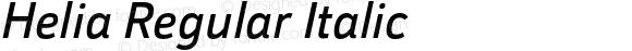 Helia Regular Italic
