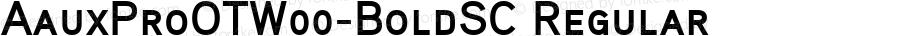 AauxProOTW00-BoldSC Regular Version 2.10
