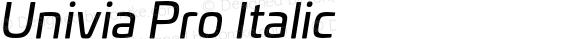 Univia Pro Italic
