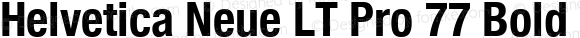 Helvetica Neue LT Pro 77 Bold Condensed