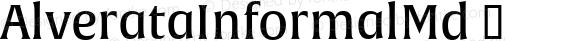 AlverataInformalMd ☞ Version 1.000;com.myfonts.easy.type-together.alverata.informal-medium.wfkit2.version.4ose