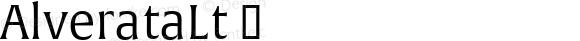 AlverataLt ☞ Version 1.001;com.myfonts.easy.type-together.alverata.light.wfkit2.version.4orX