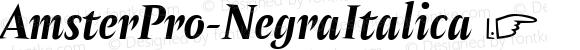 AmsterPro-NegraItalica ☞ Version 1.000;PS 001.000;hotconv 1.0.70;makeotf.lib2.5.58329;com.myfonts.easy.pampatype.amster.pro-negra-italica.wfkit2.version.4mQG