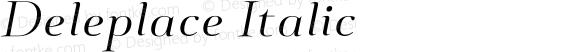 Deleplace Italic