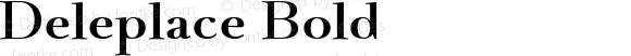 Deleplace Bold