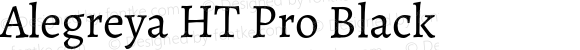 Alegreya HT Pro Black