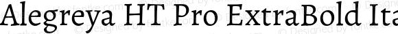 Alegreya HT Pro ExtraBold Italic