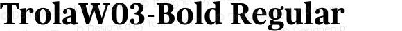 TrolaW03-Bold Regular