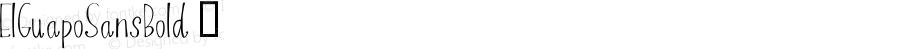 ElGuapoSansBold ☞ Version 1.00 2015;com.myfonts.easy.anewmachine.el-guapo.sans-bold.wfkit2.version.4tqN