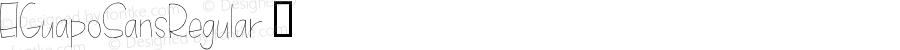 ElGuapoSansRegular ☞ Version 1.00 2015;com.myfonts.easy.anewmachine.el-guapo.sans-regular.wfkit2.version.4tqP