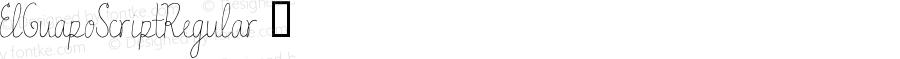 ElGuapoScriptRegular ☞ Version 1.00 2015;com.myfonts.easy.anewmachine.el-guapo.script-regular.wfkit2.version.4tqR