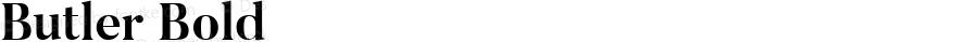 Butler Bold 1.000; ttfautohint (v1.4.1)