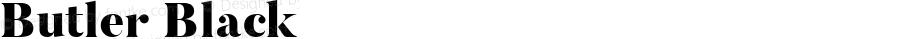Butler Black 1.000; ttfautohint (v1.4.1)