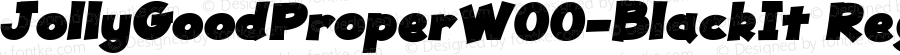 JollyGoodProperW00-BlackIt Regular Version 1.00