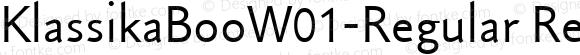 KlassikaBooW01-Regular Regular Version 1.10