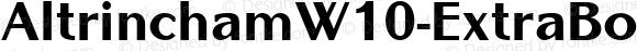AltrinchamW10-ExtraBold Regular Version 1.00