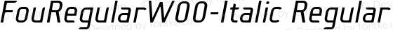 FouRegularW00-Italic Regular Version 1.10