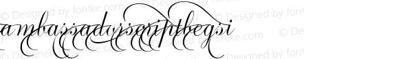 AmbassadorScriptBegsI ☞ 1.0 June 2007;com.myfonts.easy.canadatype.ambassador-script.begs-i.wfkit2.version.3FrJ