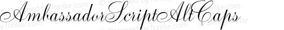 AmbassadorScriptAltCaps ☞ 1.0 June 2007;com.myfonts.easy.canadatype.ambassador-script.alt-caps.wfkit2.version.3FrA