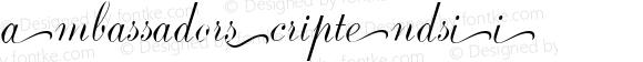AmbassadorScriptEndsII ☞ 1.0 June 2007;com.myfonts.easy.canadatype.ambassador-script.ends-ii.wfkit2.version.3FrG