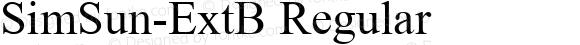 SimSun-ExtB Regular