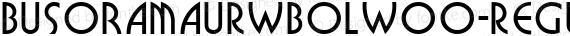 BusoramaURWBolW00-Regular Regular preview image