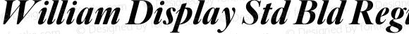 William Display Std Bld Regular Version 1.0; 2016