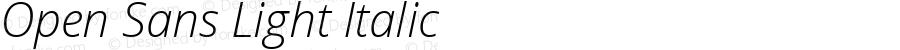 Open Sans Light Italic