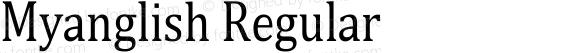 Myanglish Regular