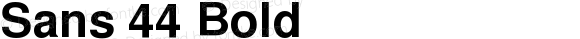 Sans 44 Bold