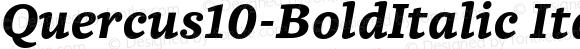 Quercus10-BoldItalic Italic