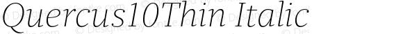 Quercus10Thin Italic