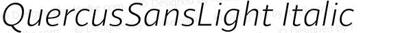 QuercusSansLight Italic
