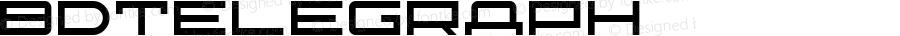 BDTelegraph ☞ Version 1.001;com.myfonts.easy.typedifferent.bd-telegraph.regular.wfkit2.version.3NDy