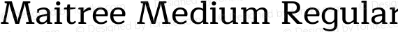 Maitree Medium Regular preview image