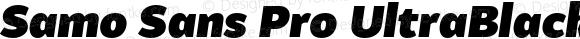 Samo Sans Pro UltraBlack Italic