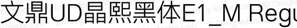 文鼎UD晶熙黑体E1_M Regular Version 1.00